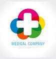 medical company logo concept vector image