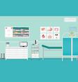 medical examination or medical check up interior vector image