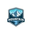 mountains logo design template vector image vector image