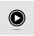 play button icon in flat style on isolated vector image