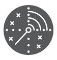 radar glyph icon military and navy target sign vector image