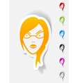 realistic design element face girl vector image
