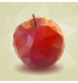 Red Low-poly Triangular Apple vector image