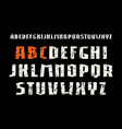 sanserif font in weightlifting style vector image vector image