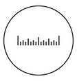 scale ruler icon black color simple image vector image