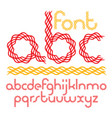 script funky rounded alphabet letters set made vector image vector image