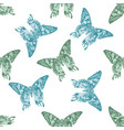 seamless pattern with hand drawn pastel madagascan vector image