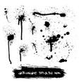 set of ink splashes blots splatter vector image vector image