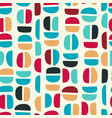 simple geometric seamless pattern with abstract vector image vector image