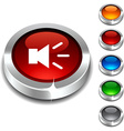 Sound 3d button vector image vector image