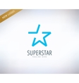 Star logo icon Leader winner rank or vector image