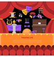 Theatre Life Concept Background vector image vector image
