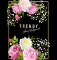 trendy floral background vector image vector image