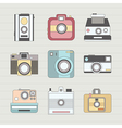 Vintage Camera Set vector image