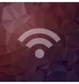 Wifi in flat style icon vector image vector image