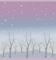winter tree with few berries and red birds on a vector image vector image