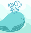 Friendly whale vector image