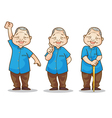 old man benign vector image