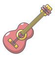 guitar icon cartoon style vector image