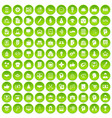 100 business strategy icons set green vector image vector image