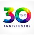 30 anniversary color logo vector image vector image
