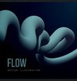abstract fluid line gradient flow design vector image vector image