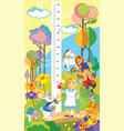 alice in wonderland height meter vector image vector image