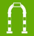 arch icon green vector image vector image