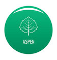 aspen leaf icon green vector image