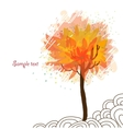 Autumn tree on white background vector image vector image