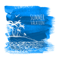 Blue summer watercolor background vector image vector image
