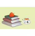 Books and Cup of Tea vector image vector image