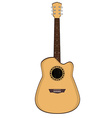Brow guitar vector image vector image