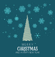 christmas background with tree and snowflake vector image vector image