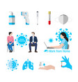covid-19 element icons set image vector image vector image