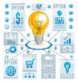 creative infographics elements bright idea light vector image vector image