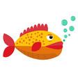 cute tropical fish cartoon vector image vector image