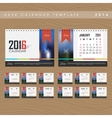 Desk Calendar 2016 Design Template vector image