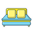 double bed icon cartoon style vector image vector image