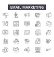 email marketing line icons signs set vector image vector image