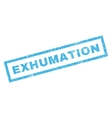 Exhumation Rubber Stamp vector image