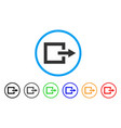 exit rounded icon vector image