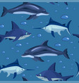 fishes cartoon seamless pattern stock vector image vector image