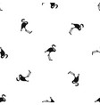 flamingo pattern seamless black vector image vector image