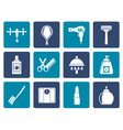 Flat Personal care and cosmetics icons vector image vector image