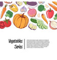fresh organic vegetables supermarket advertising vector image