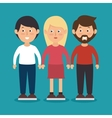 friendship woman men together vector image