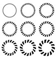 geometric circle elements in 9 thickness vector image vector image