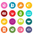 global connections icons many colors set vector image vector image