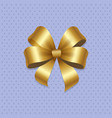 golden bow knot with four loop vector image